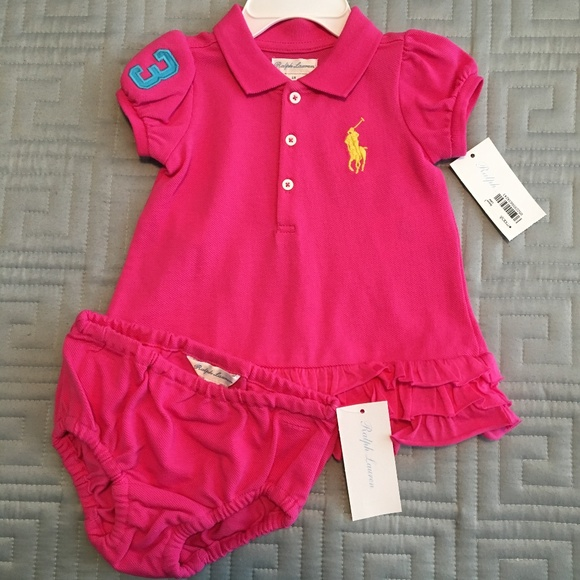 6b57e743352a Ralph Lauren Dresses | Baby Polo Dress With Bloomers | Poshmark